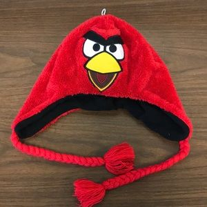 Angry Bird Hat and Black Gloves